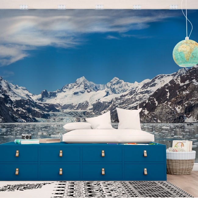 Peintures murales alaska glacier bay parc national