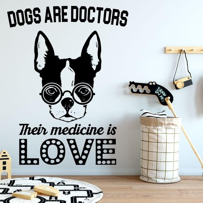 Vinyle et autocollants des phrases le bon docteur