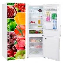 Vinyles collage fruits et légumes pour réfrigérateurs