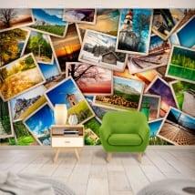 Peintures murales en vinyle collage de photos