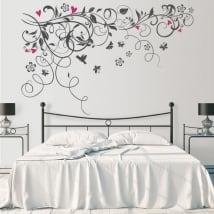 Vinyle et autocollants fleurs à décorer