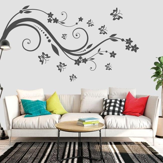 Vinyle et autocollants fleurs et papillons à décorer