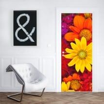 Vinyle fleurs pour décorer les portes et les armoires