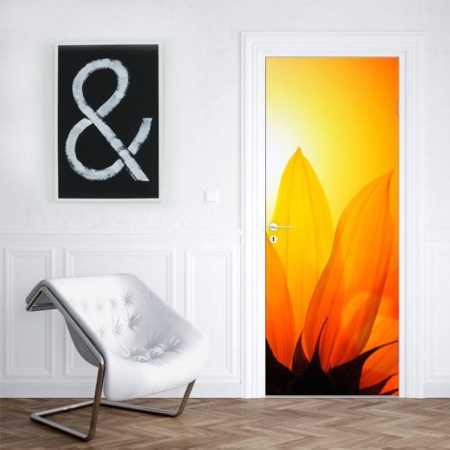 Vinyle décorer les portes et armoires à fleurs