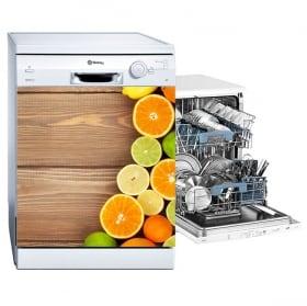 Vinyle décorer le lave-vaisselle collage de fruits et légumes