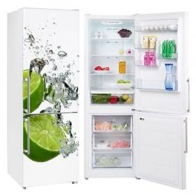 Vinyle et autocollants décorer les réfrigérateurs citrons dans l'eau