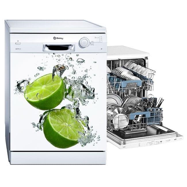 Vinyle et autocollants décorer le lave-vaisselle citrons dans l'eau