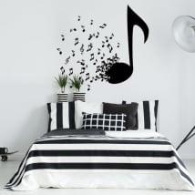 Vinyle décoratif et autocollants notes de musique