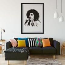 Vinyle chanteuse de jazz femme image encadrée effet 3d