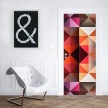 Vinyle pour portes et armoires couleurs de triangles