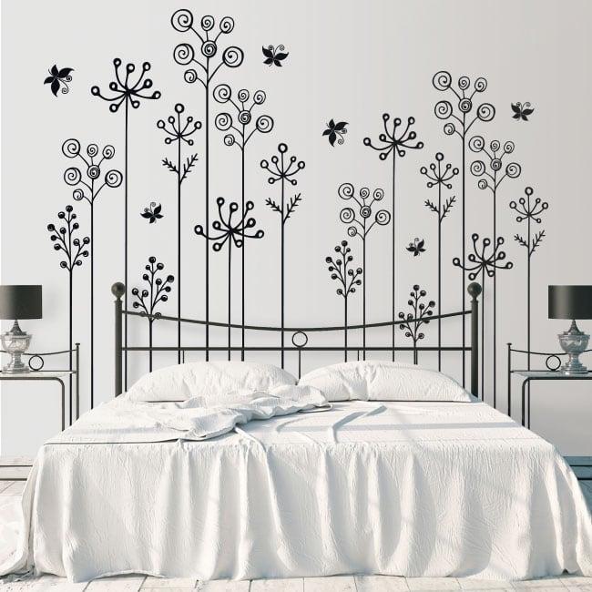 Vinyle et autocollants les fleurs décorent les murs et les objets