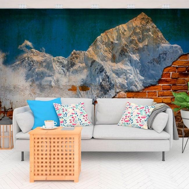 Peintures murales de vinyle mont everest effet mur brisé