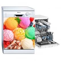 Vinyle décoratif décorer un lave-vaisselle glace