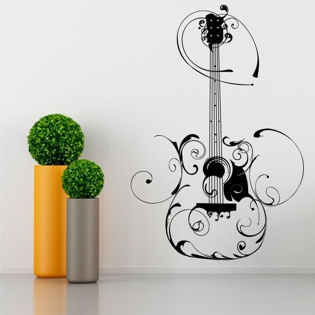 Vinyle décoratif guitare avec filigrane