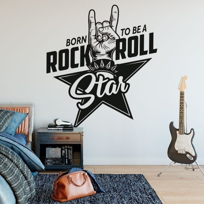 Stickers muraux rock and roll