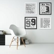 Vinyle et autocollants new york image effet 3d