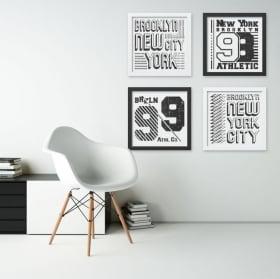 Vinyle décoratif new york city image de l'effet 3d