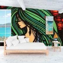 Peintures murales de vinyle décoratif graffiti d'art urbain