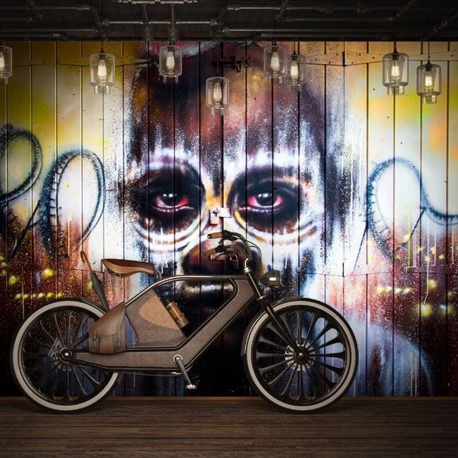 Murales de vinyle graffiti d'art urbain
