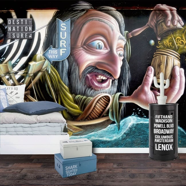 Peintures murales et vinyle graffiti d'art urbain