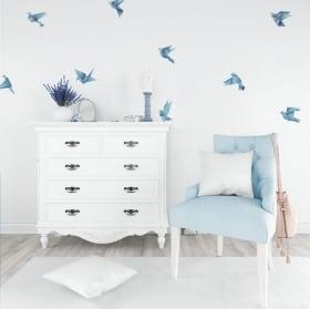 Stickers muraux et des autocollants oiseaux origami