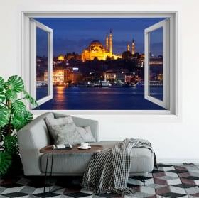 Vinyle des fenêtres istanbul mosquée suleiman 3d