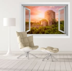 Vinyle des fenêtres forteresse rumeli hisari istanbul 3d