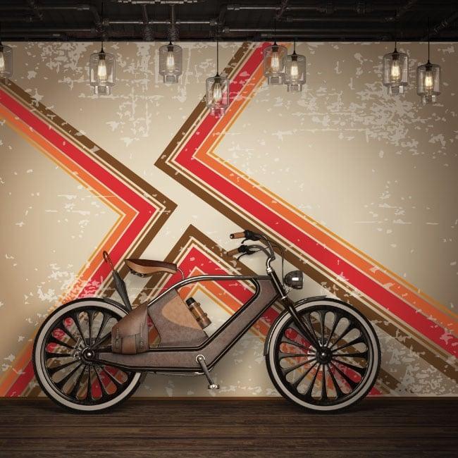 Peintures murales de vinyle avec un style rétro pour décorer