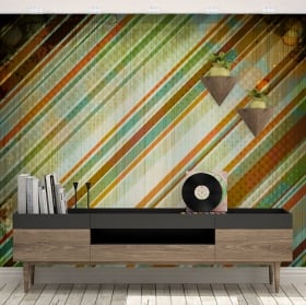 Murales vinyles style rétro pour décorer