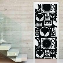 Vinyle décoratif musique décorant des portes et des armoires