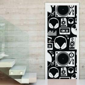 Vinyle adhésif portes et armoires style pop rétro