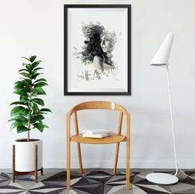 Vinyle décoratif silhouette de femme image effet 3d
