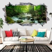 Vinyle les murs cascade et nature 3d
