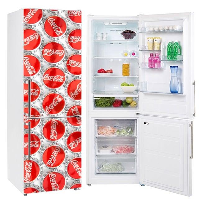 Vinyle pour décorer les réfrigérateurs coca-cola