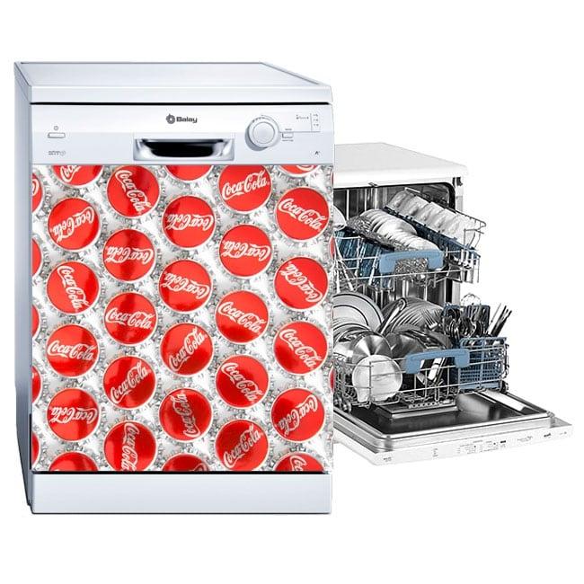 Vinyle adhésif pour décorer le lave-vaisselle coca-cola