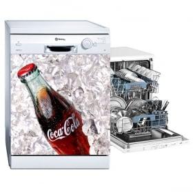 Vinyle pour lave-vaisselle coca-cola
