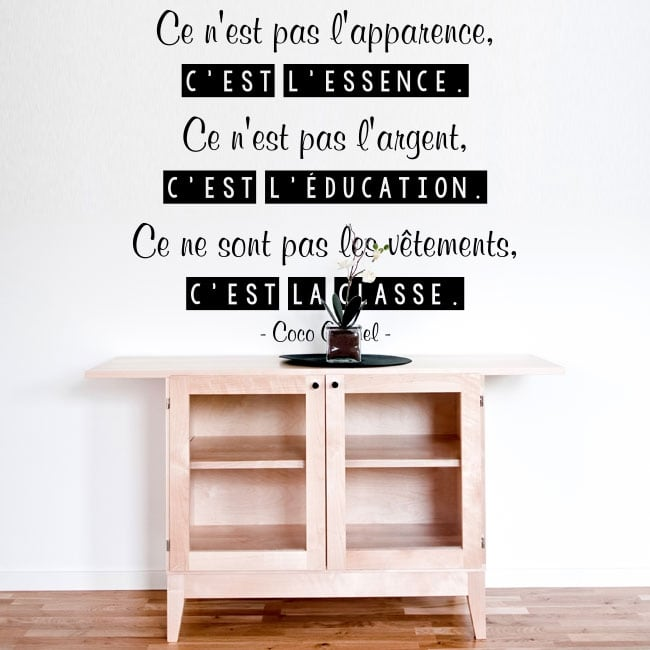 Vinyle décoratif coco chanel phrase française