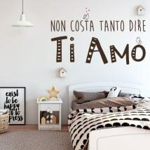 Vinyle et autocollants phrases je t'aime en italien