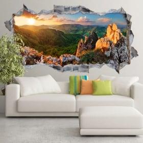 Vinyle coucher de soleil sur les montagnes rocheuses slovaquie 3d