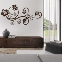 Vinyle décoratif fleurs à décorer