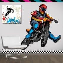 Vinyle décoratif et des autocollants motocross