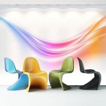 Papier peint vinyle traits colorés