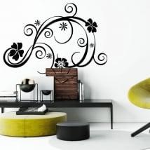 Vinyle décoratif et des autocollants avec des fleurs