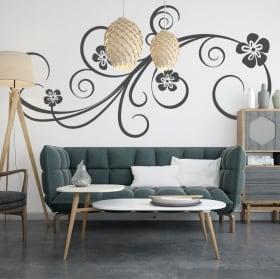 Autocollants décorer les murs avec des fleurs