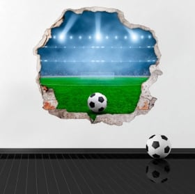 Stickers muraux terrain de foot 3d