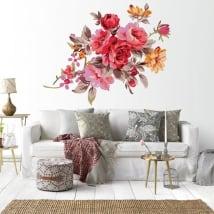 Vinyle décoratif des fleurs les murs
