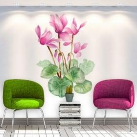 Autocollants et vinyls décoratifs des fleurs les murs