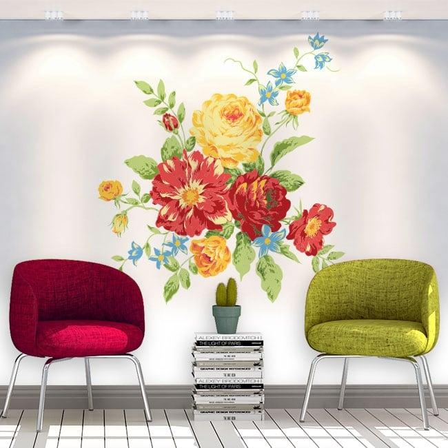 Autocollants en vinyle des fleurs les murs et objets