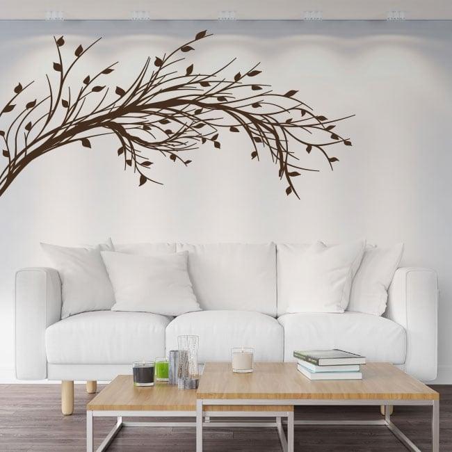 Autocollants en vinyle branche d'arbre avec des feuilles