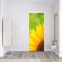 Vinyle décorer les portes et les armoires tournesol